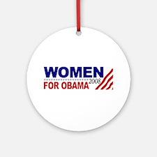 Women for Obama 2008 Ornament (Round)