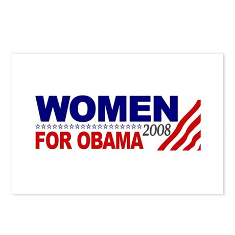 Women for Obama 2008 Postcards (Package of 8)