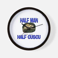Half Man Half Cuscu Wall Clock