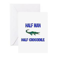 Half Man Half Crocodile Greeting Cards (Pk of 10)