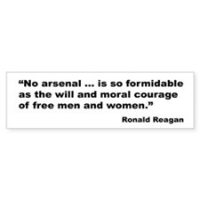 Reagan Moral Courage Quote Bumper Bumper Sticker