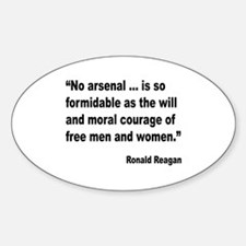 Reagan Moral Courage Quote Oval Decal