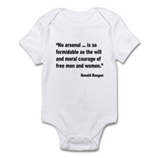 Reagan Moral Courage Quote Infant Bodysuit