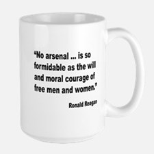 Reagan Moral Courage Quote Mug