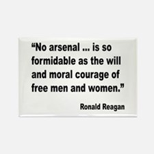 Reagan Moral Courage Quote Rectangle Magnet