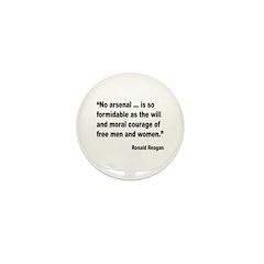 Reagan Moral Courage Quote Mini Button (10 pack)