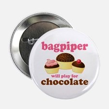 "Chocolate Bagpiper 2.25"" Button"