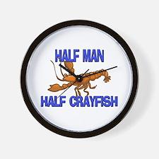 Half Man Half Crayfish Wall Clock