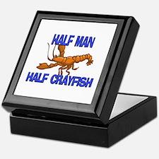 Half Man Half Crayfish Keepsake Box