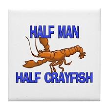Half Man Half Crayfish Tile Coaster