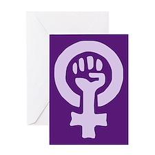 Feminist Woman Power Greeting Card