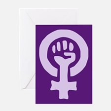 Feminist Woman Power Greeting Card