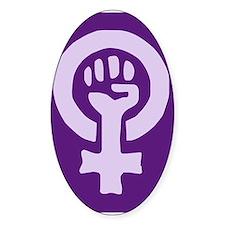 Feminist Woman Power Oval Sticker