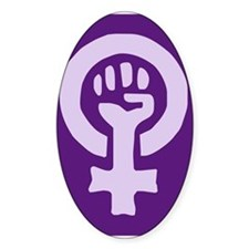 Feminist Woman Power Oval Decal