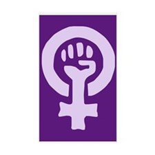 Feminist Woman Power Rectangle Decal