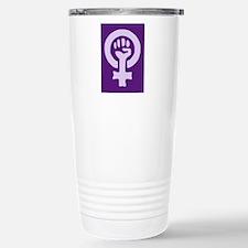 Feminist Woman Power Stainless Steel Travel Mug