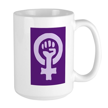 Feminist Woman Power Large Mug