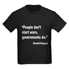 Reagan Government Wars Quote (Front) T
