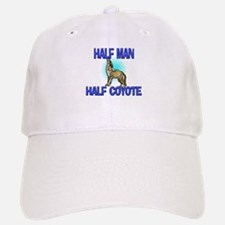 Half Man Half Coyote Baseball Baseball Cap