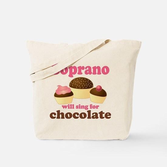 Chocolate Soprano Tote Bag