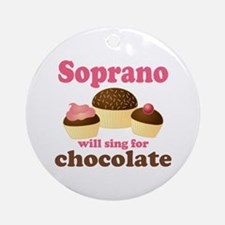 Chocolate Soprano Ornament (Round)