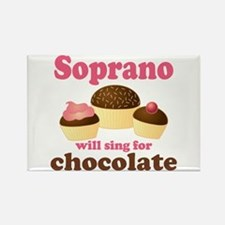 Chocolate Soprano Rectangle Magnet