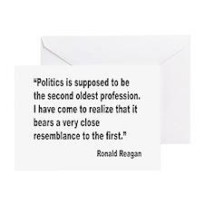 Reagan Politics Quote Greeting Card