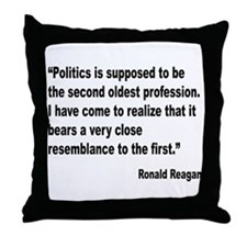 Reagan Politics Quote Throw Pillow
