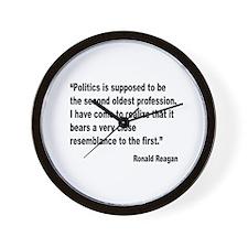 Reagan Politics Quote Wall Clock