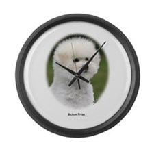 Bichon Frise 9Y362D-058 Large Wall Clock