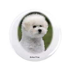 """Bichon Frise 9Y362D-058 3.5"""" Button"""