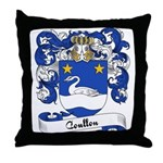 Coullon Family Crest Throw Pillow