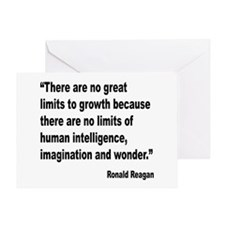 Reagan Growth Quote Greeting Card
