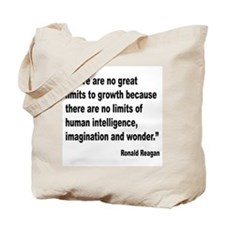 Reagan Growth Quote Tote Bag