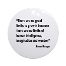 Reagan Growth Quote Ornament (Round)
