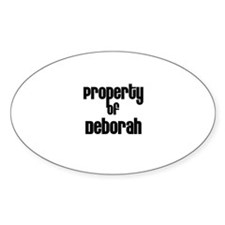 Property of Deborah Oval Decal