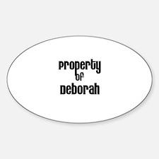 Property of Deborah Oval Decal
