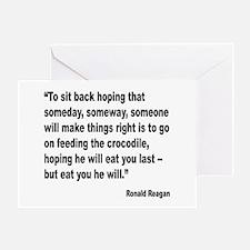 Reagan Crocodile Quote Greeting Card