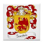 Courtois Family Crest Tile Coaster