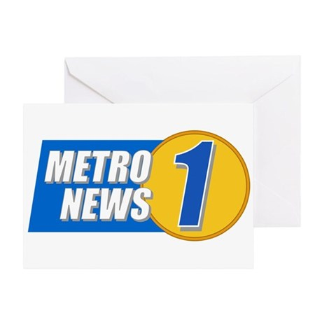 Metro News 1 Greeting Card