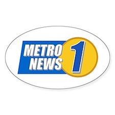 Metro News 1 Oval Decal