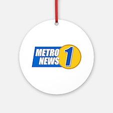 Metro News 1 Ornament (Round)