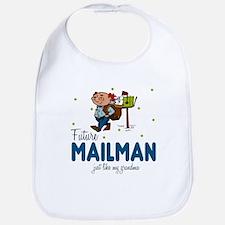 Future Mailman like Grandma Baby Infant Bib