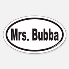 Mrs. Bubba Euro Oval Decal