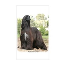 Afghan Hound Rectangle Decal