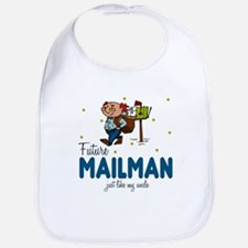 Future Mailman Like Uncle Baby Infant Toddler Bib