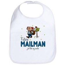 Future Mailman like Auntie Baby infant Toddler Bib