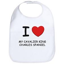I love MY CAVALIER KING CHARLES SPANIEL Bib