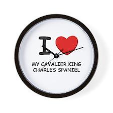 I love MY CAVALIER KING CHARLES SPANIEL Wall Clock