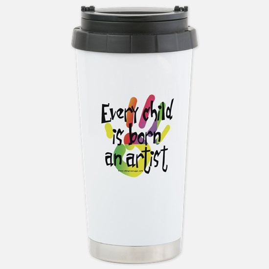 Every Child is Born an Artist Stainless Steel Trav